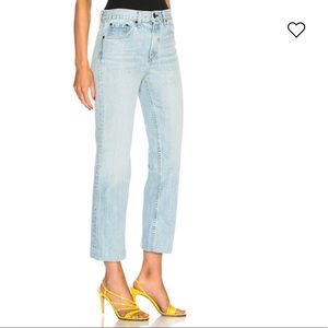 Rag and Bone Ankle Straight Jeans Size 27